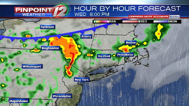 Weather Now: Scattered Showers, Heavy T'storms Later Weds  Afternoon