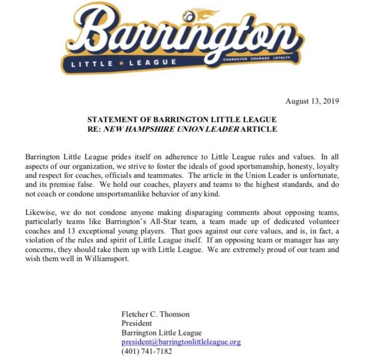 Barrington coaches deny cheating allegations