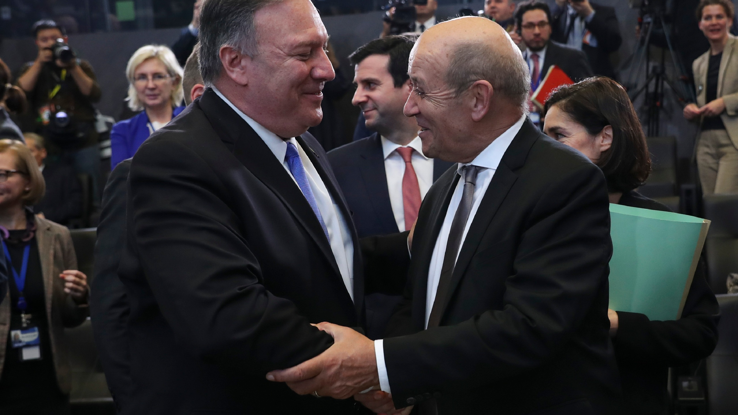 Mike Pompeo, Jean-Yves Le Drian