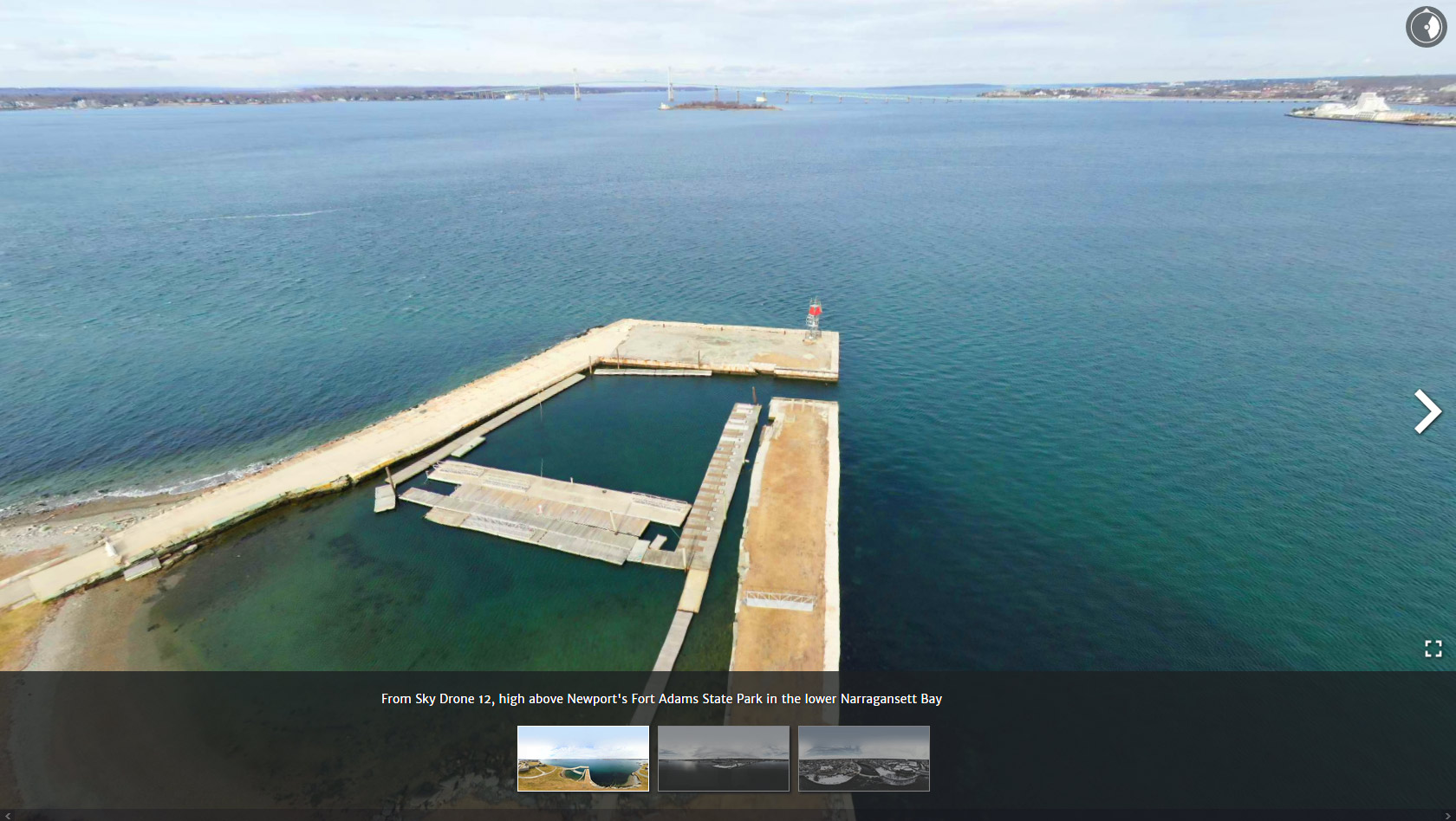 STATE OF THE BAY 360: Interactive scenes above the bay in 360 degree VR view