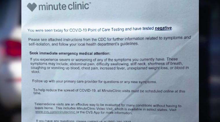 Negative Or Not Ri Healthcare Worker Initially Told Wrong Result On Covid 19 Test Wpri Com