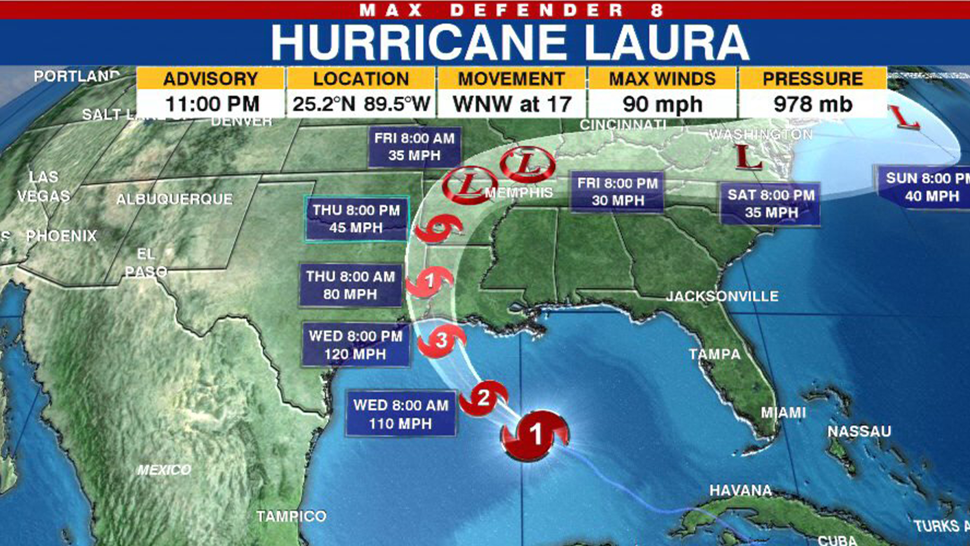 Tracking The Tropics Laura Strengthening Forecast To Make Landfall As Major Hurricane Wpri Com