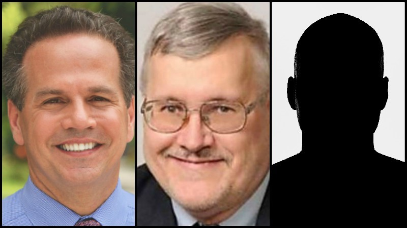 Congressman David Cicilline (left) will face Fred Wysocki (middle) and Jeffrey Lemire.