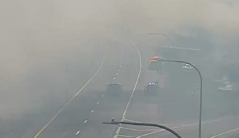 Brush fires along I-95 cause significant travel delays