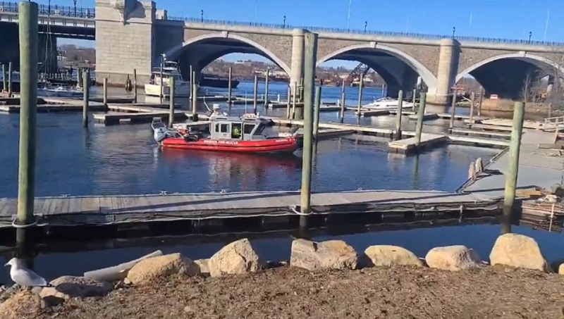 Crews search the water at East Providence Yacht Club