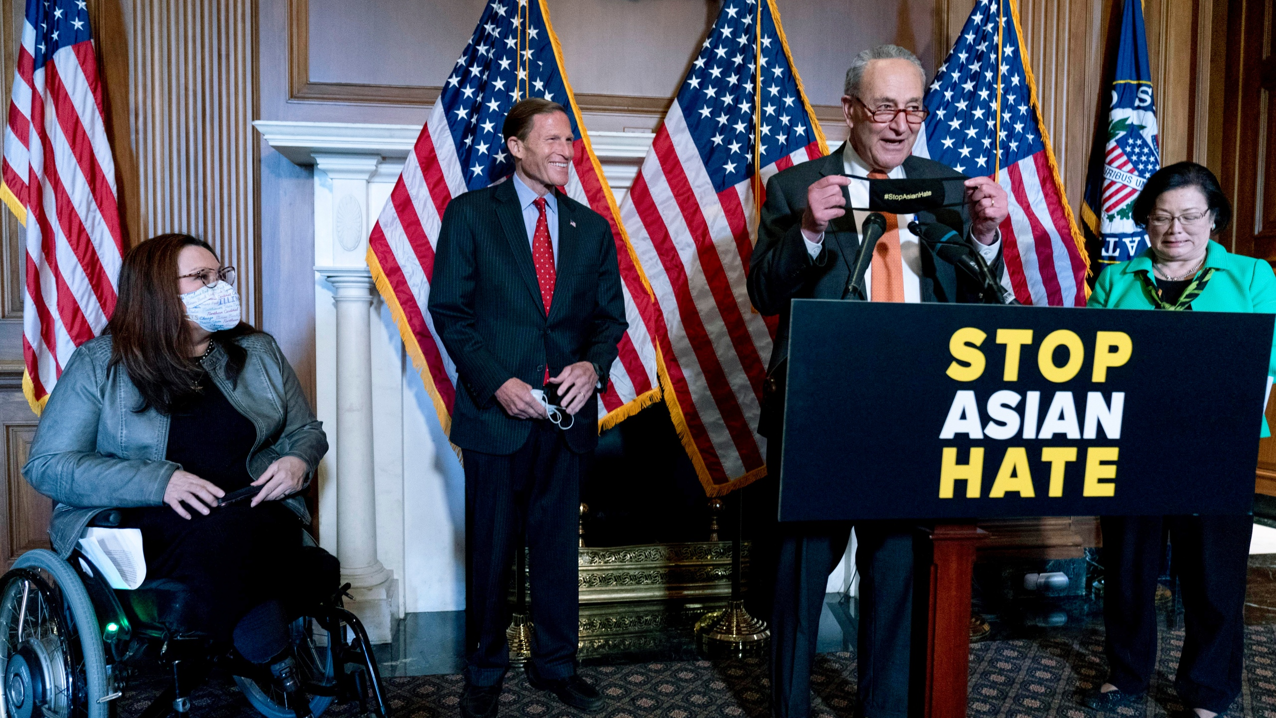 Chuck Schumer, Mazie Hirono, Tammy Duckworth, Richard Blumenthal